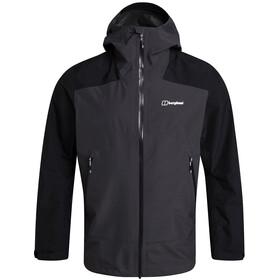 Berghaus Paclite Peak Vented Shell Jacket Men, grey pinstripe/jet black